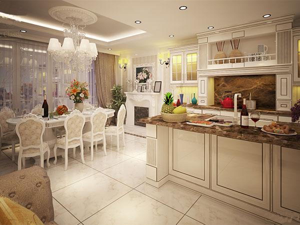 Nội thất phòng bếp cổ điển