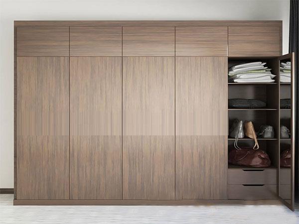Tủ quần áo gỗ đơn giản và hiện đại