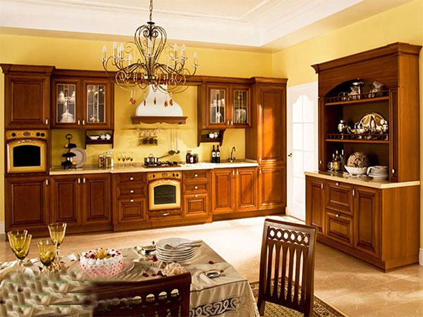 Kệ bếp phong cách cổ điển và tân cổ điển