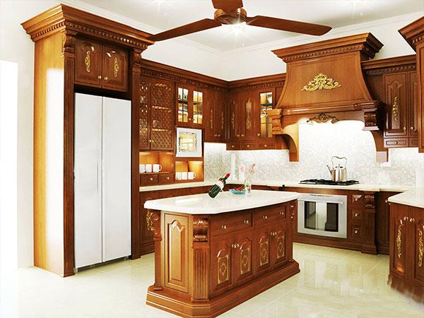 Bàn đảo bếp cổ điển