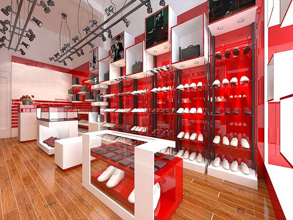 Nội thất cửa hàng giày dép