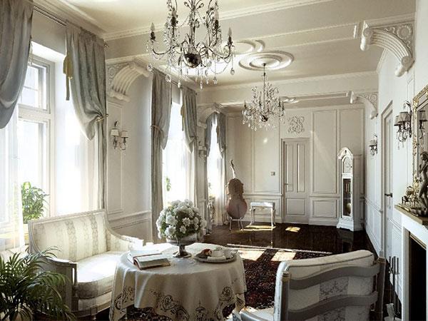 Nội thất phòng khách cổ điển
