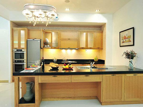 Nội thất hiện đại phòng bếp bằng gỗ